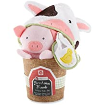 Baby Aspen, Farmhouse Friends 4-Piece Bathtime Bucket, 0-6 Months