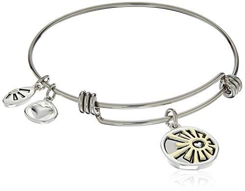 Two-Tone Silver Plated Choose Love Always Adjustable Bangle Bracelet