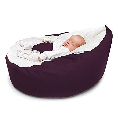 Rucomfy Luxury Cuddle Soft Gaga Baby Bean Bag (Aubergine)...