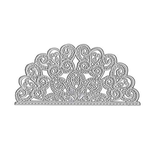 Ruzida Semicircle Flower Metal Cutting Dies Stencil DIY Scrapbooking Album Stamp Paper Card Embossing Craft Decor]()