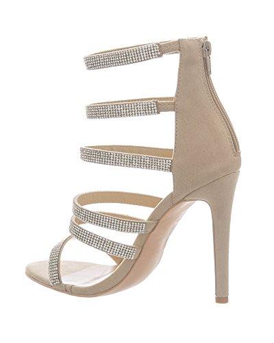 Shelikes Femme Shelikes Beige Sandales Sandales Pour 4zx6xT5qnw