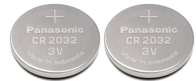 Pilas de botón Panasonic CR2032 (3 V, litio, 2 unidades): Amazon.es: Electrónica