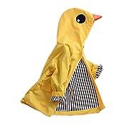 Birdfly Unisex Kids Animal Raincoat Cute Cartoon Jacket Hooded Zip Up Coat Outwear Baby Fall Winter Clothes School Oufits (12M, Quacker)