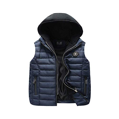 Casual Darkblue Thick Down Warm Vest Korean DYLBD Autumn Models and Version Winter qw8wPY