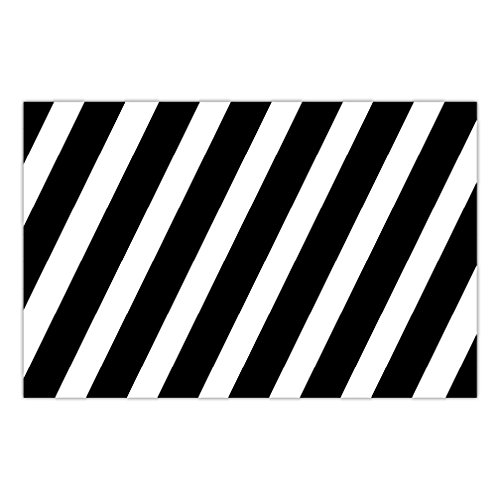 Stripe Matte (DB Party Studio Paper Placemats 25 Pack Bold Stripe Graduation Birthday Parties Anniversary Retirement Event Easy Cleanup Disposable Lunch Dinner Dining Place Mats Table Setting 17