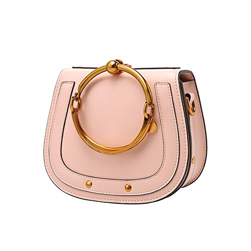 Leather Bag Shoulders Powder Hand Romantic Messenger Ring Bag XDDB q5npTt1x