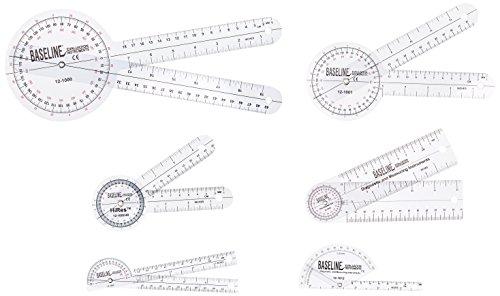 Baseline 12-1028 Plastic Goniometer, 6-piece Set