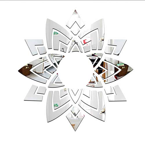 3D Espejo Wall Sticker Acrílico Techo Techo Decoración Bricolaje Creative Apliques para Salón Espejo Hogar Pared...