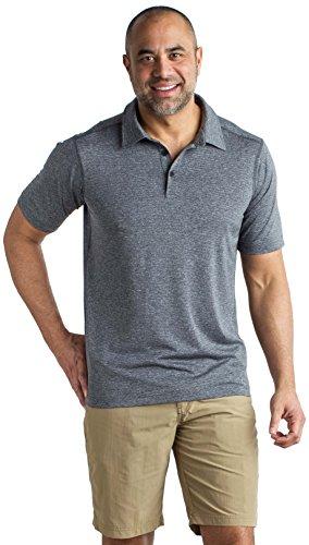 ExOfficio Men's Sol Cool Signature Short-Sleeve Polo Shirt, Black, Large