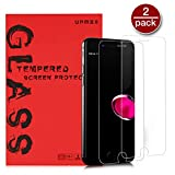 ERTDDE Screen Protector for iPhone 6 iPhone 7 iPhone 8, 2.5D Edge HD 9H Hardness Fingerprint-Less Tempered Glass Screen Protector (4.7 Inch 2Pack)