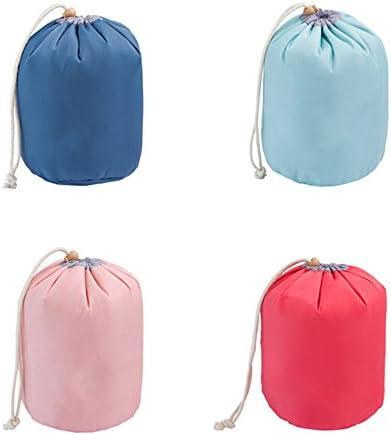 ウォッシュバッグ ポータブルトラベルトイレタリーコスメティックバッグ防水トラベルキットオーガナイザー浴室のストレージメイク巾着袋 トイレタリーバッグ (Color : Pink)