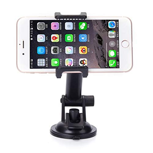 Premium Car Mount Dash-Board Windshield Cradle Holder Window Glass Swivel  Stand Strong Suction Compatible with US Cellular Motorola Moto E4 - US