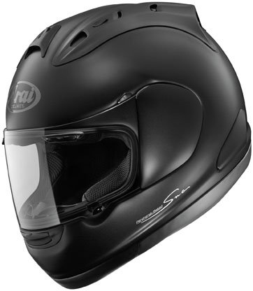 arai corsair-v motorcycle helmet matte black side.