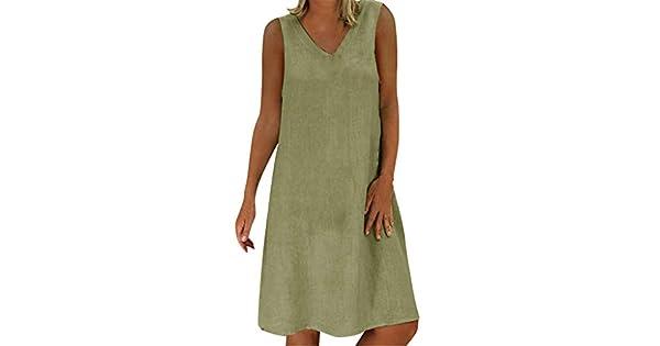 Amazon.com: Vestido de verano femenino Vestido camiseta de ...