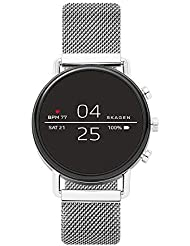 Skagen Connected Falster 2 Stainless Steel Magnetic Mesh Touchscreen Smartwatch, Color: Silver-Tone (Model: SKT5102)