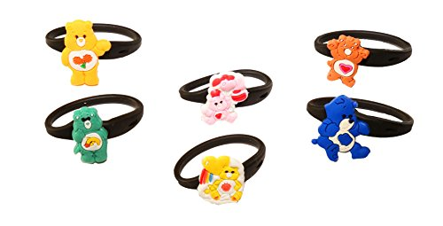 AVIRGO 6 pcs Releasable Ponytail Holder Elastic Rubber Stretchable No-slip Hair Tie Set # (Wish Bear Care Bear Costume)