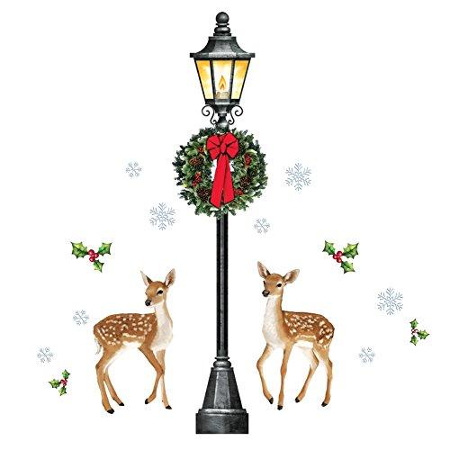 Outdoor Lamp Post Santa - 7