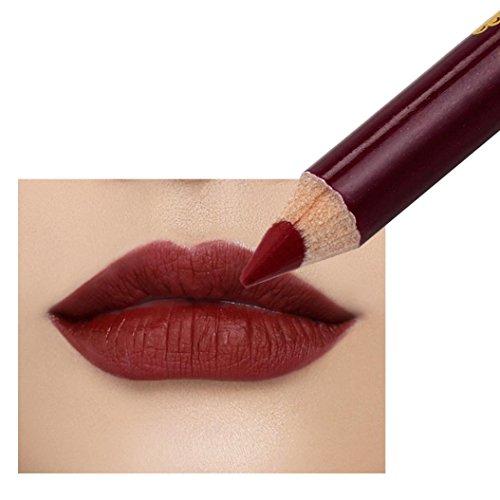 AMA(TM) Waterproof Long Lasting Microblading Permanent Makeup Tattoo Lip Liner Pencil Lipstick (A)