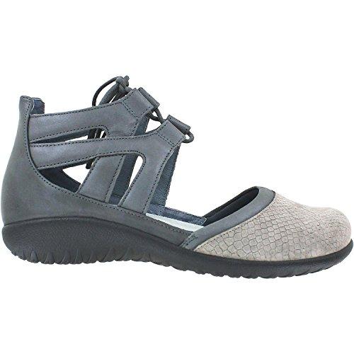 NAOT Footwear Women's Lace-up Kata Shoe Gray Iguana Nubuck/Shadow Gray Nubuck/Tin Gray Leather 8 M US