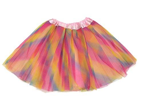 Rush Dance Ballerina Girls Dress-Up Princess Fairy Costume Recital Tutu (Kids 3-8 Years, Pink (Rainbow Fairy Costume)