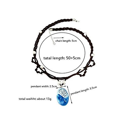 Amazon Com Buufan Girl Sapphire Necklace For Princess Moana Cosplay