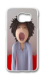 Samsung Galaxy S6 Case,Logo Series Customize Ultra Slim Entertainment Movies Disney Funny 1 Hard Plastic PC Clear Case Bumper Cover for S6