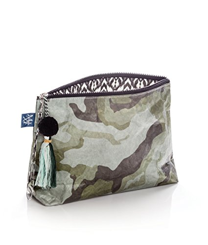 Recyclable Materials (Mixt Studio Tassel Zipper Pouch, Tyvek Travel, Water-Resistant, Olive Utility)