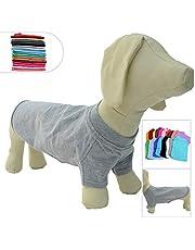 Lovelonglong Pet Clothing Dog Costumes Basic Blank T-Shirt Tee Shirts for Large Medium Small Dashchund Bulldog Corgi Dogs