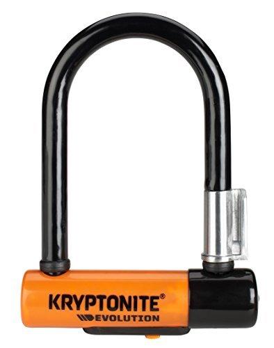 Kryptonite Evolution Mini-5 Heavy Duty Bicycle U Lock Bike Lock with Transit FlexFrame Bracket (3.25-Inch x 5.5-Inch)