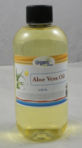 Certified Organic Aloe Vera Oil - 100% Pure 240 ml (8 Oz) by SAAQIN Ã'Â