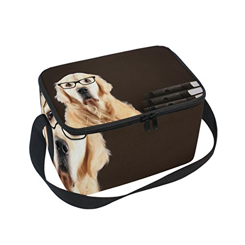 FORMRS Lunch Box Insulated Golden Retriever Dog Lunch Bag Large Cooler Tote Bag for Men, Women ()