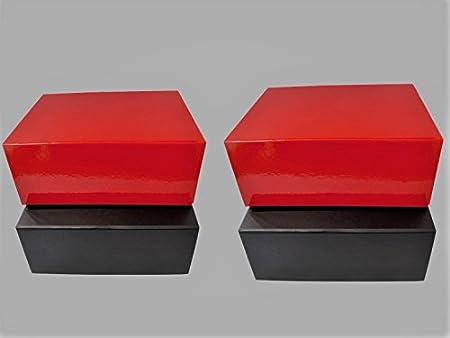 4 x Cajas de Regalo Rojas y Negras tamaño Mediano - Cajas de Regalo con Cierre magnético.