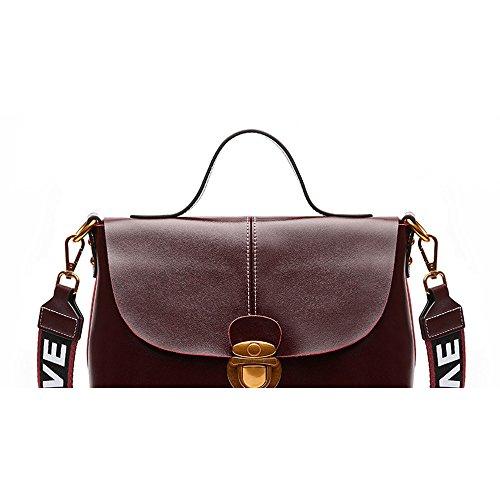 GWQGZ Fashion Retro Lady Single Shoulder Bag New Style Handbag Simple Atmosphere Handbag Gules