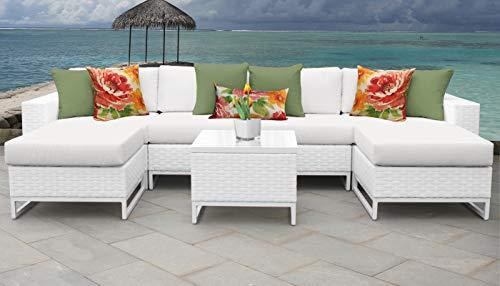 TK Classics MIAMI-07b Miami Seating Outdoor Furniture, Sail White (Furniture Outdoor Miami Cheap)