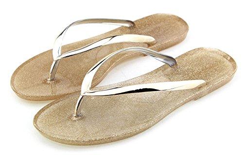 Jelly Flip Flop Sandals - 4