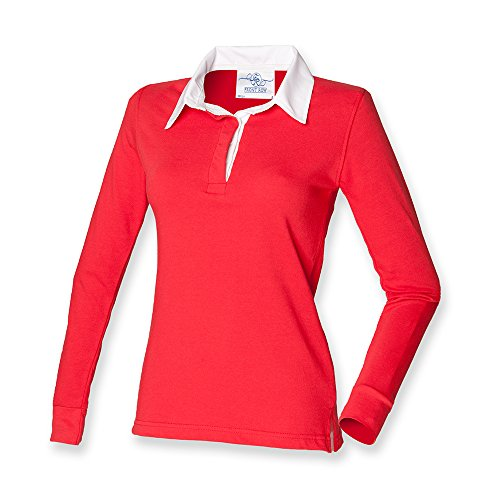 Front Row Ladies Classic Rugby Shirt M Red