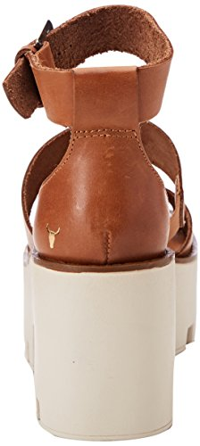 Sandali Windsor Smith con Plateau Marrone Donna Leather Puffy Tan rOrqwdxE