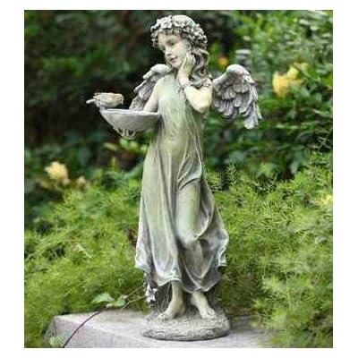 Woodington's Guardian Angel Birdfeeder 20 Inch Outdoor Garden Statue : Garden & Outdoor