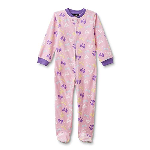 Joe Boxer Infant & Toddler Girls' Footed Sleeper Pajamas - Bow 12 Months