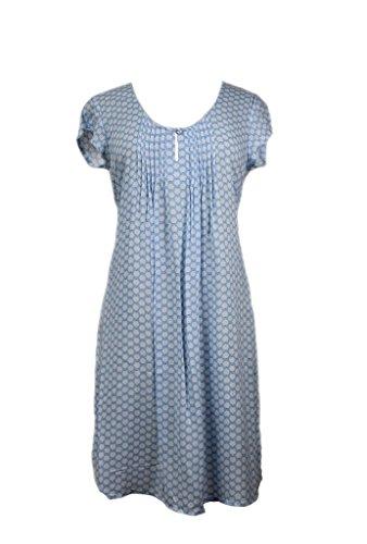 Miss Elaine Women's Short Sleeve White Foulard Print Nightgown (Small, White Foulard) (Nightgown Pintucked)