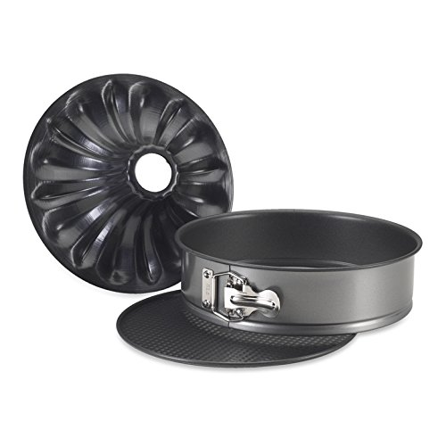 Nordic Ware Bundt Fancy Springform Pan with 2 Bottoms, 9 Inch (Bundt Pan Springform)