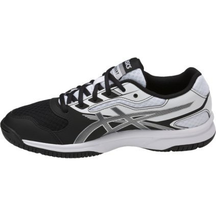2 Volleyball Shoe (ASICS Unisex-Kids Upcourt 2 GS Tennis Shoe, Black/Silver/White, 4 Medium US Big Kid)