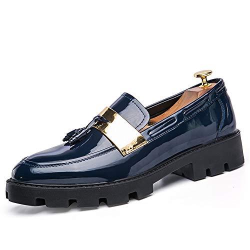 da Blu Cricket Scarpe di Scarpe Uomo On Scarpe da Pizzico Slip Tassel Loafer Oxford gOAaPq