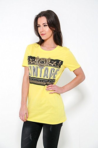 Taille EUR Mesdames T Momo Fashions Shirt Citron 42 amp;Ayat 36 Vintage Printed Graphic z8xqpwx