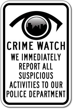 Watch Round Logo (Neighborhood Watch Round Logo Sign - 12x18)