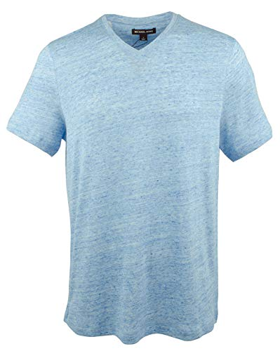 - Michael Kors Men's Linen Blend Lighweight V-Neck T-Shirt-NM-L