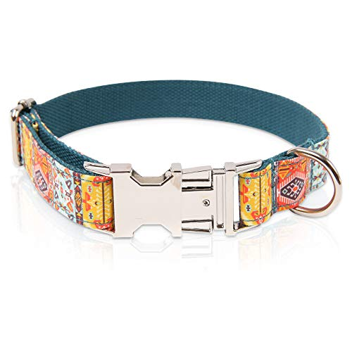 collar para perro ajustable broche metal bohemia  talle s