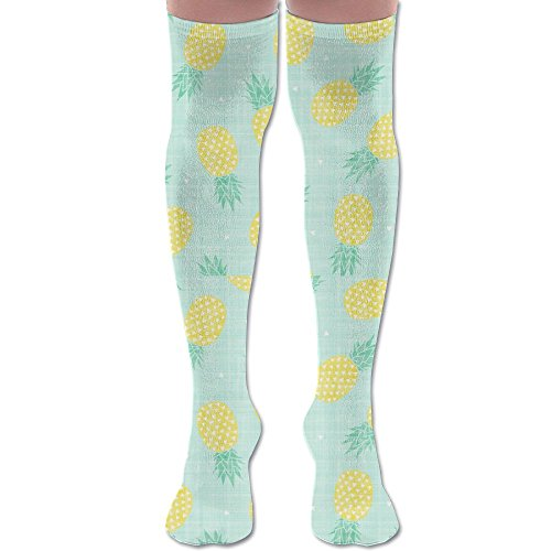 Juicy Pineapple Color Knee High Compression Socks for Women (Pineapple Green, one (Juicy Knee Socks)