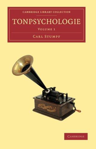 Tonpsychologie: Volume 1 (Cambridge Library Collection - Music) (German Edition) pdf