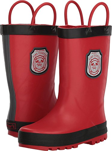 carter's Boys' Rainboot Rain Boot, Red, 7 M US Toddler